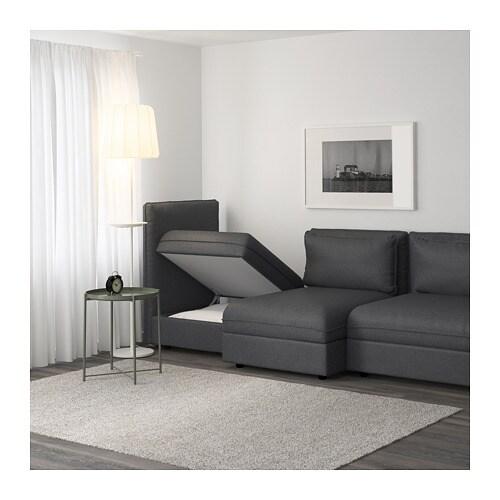 Vallentuna divano a 3 posti hillared grigio scuro ikea - Ikea divano vallentuna ...