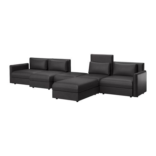 VALLENTUNA Divano a 5 posti - Murum nero - IKEA
