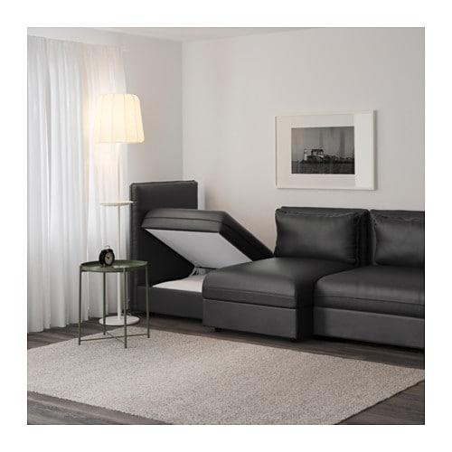 Vallentuna divano a 3 posti murum nero ikea - Ikea divano vallentuna ...