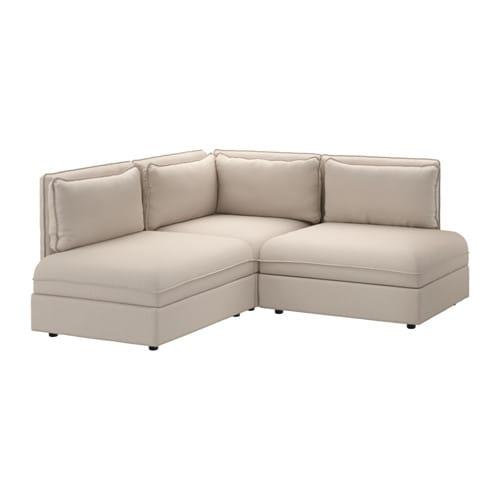 Vallentuna divano angolare a 3 posti orrsta beige ikea - Ikea divano angolare ...
