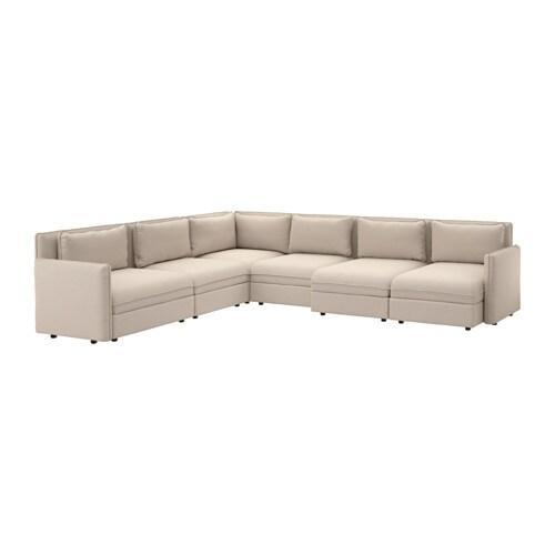 Vallentuna divano angolare a 6 posti orrsta beige ikea - Ikea divano vallentuna ...
