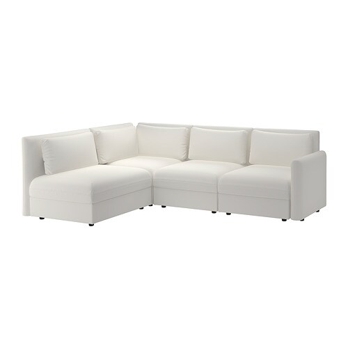 Vallentuna divano angolare 3 posti componibile con for Divano con contenitore ikea