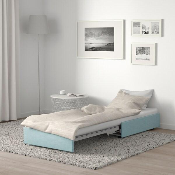 VALLENTUNA Divano letto, Hillared azzurro