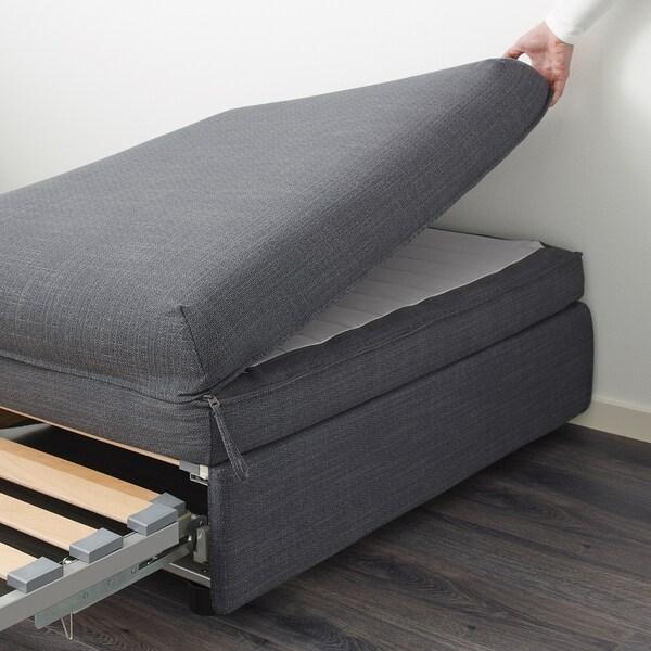 Letto Singolo Tipo Divano Ikea.Vallentuna Divano Letto Hillared Grigio Scuro Ikea