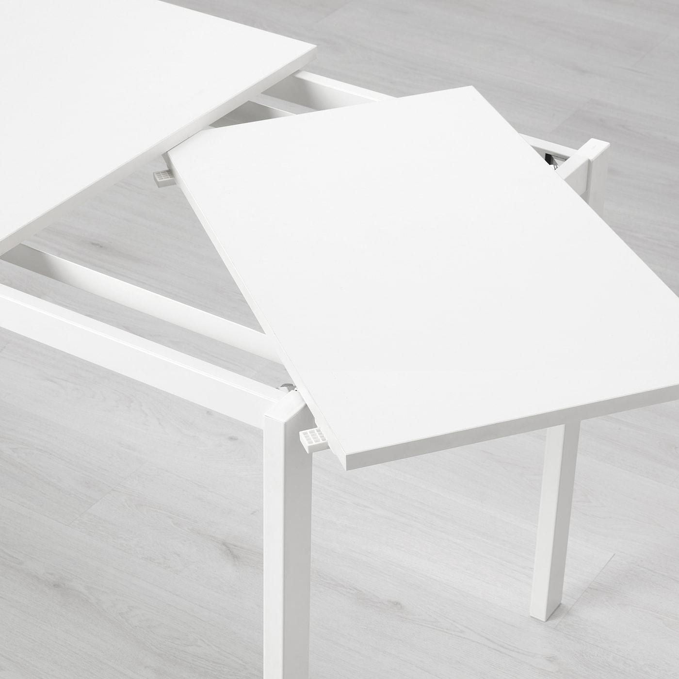 Tavolo Ikea Bianco E Legno Allungabile