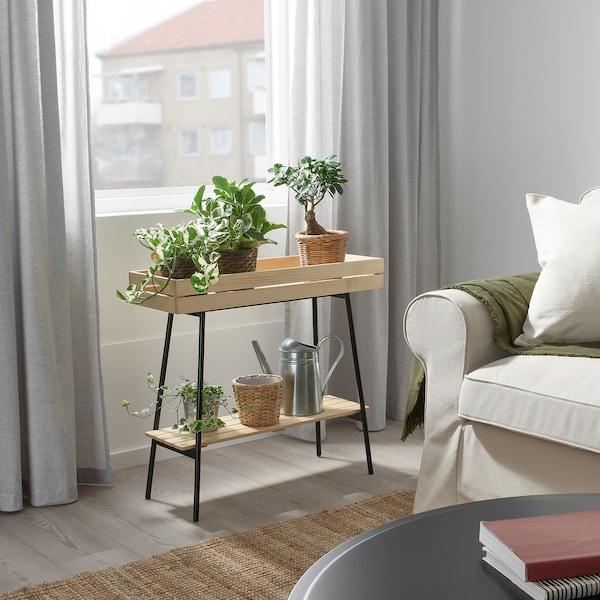 VANILJSTÅNG Piedistallo per piante, pino/nero, 67 cm