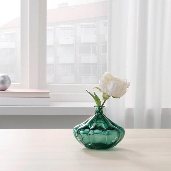 VANLIGEN vaso verde scuro 11 cm