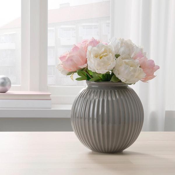VANLIGEN Vaso, grigio, 18 cm