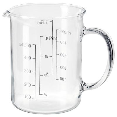 VARDAGEN Brocca graduata, vetro, 0.5 l