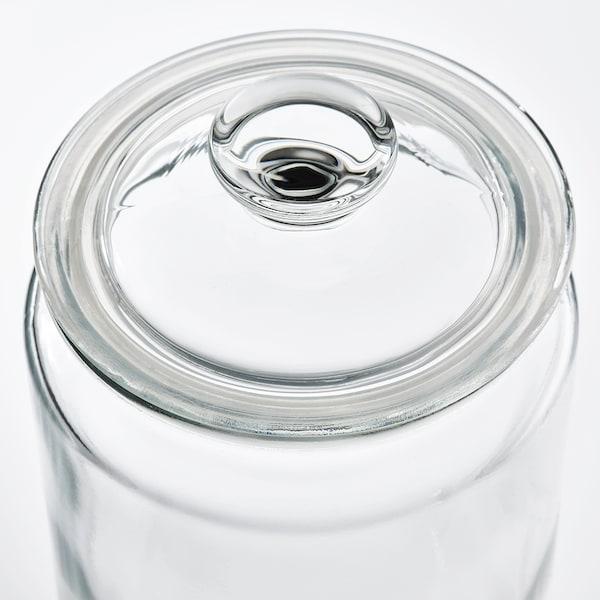 VARDAGEN Contenitore con coperchio, vetro trasparente, 1.8 l