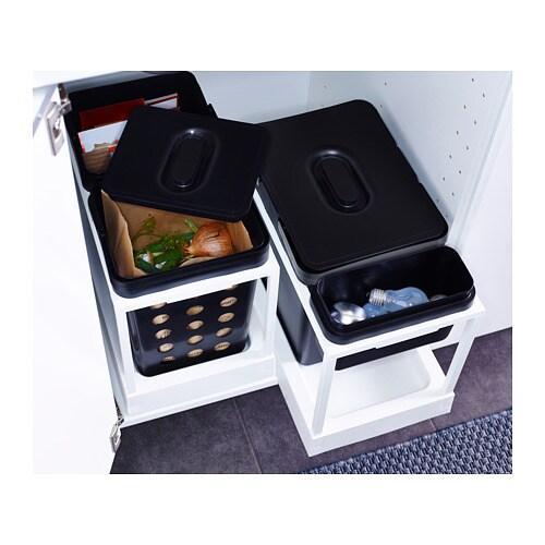 Armadio Raccolta Differenziata Ikea.Dettagli Su Ikea Variera Secchio Per Raccolta Differenziata Nero
