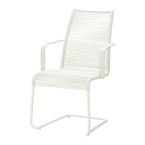 V sman sedia con braccioli da giardino bianco ikea for Ikea sedia odger