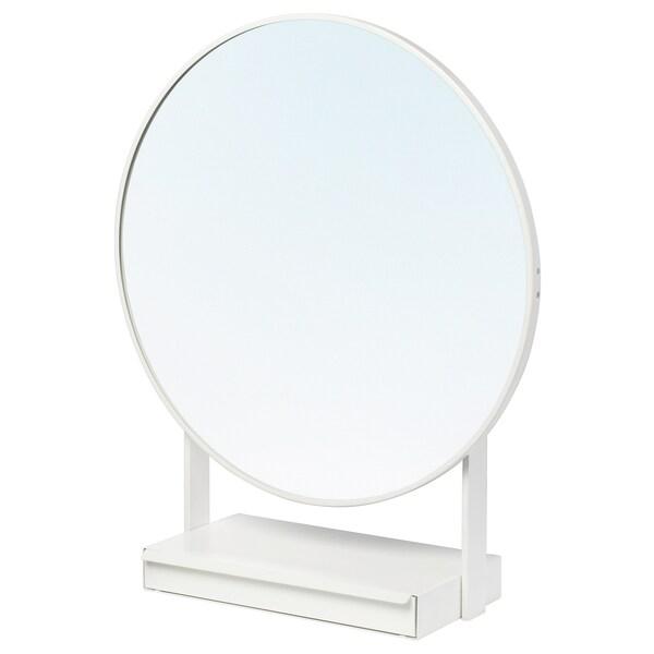 Supporto Tv Da Tavolo Ikea.Vennesla Specchio Da Tavolo Bianco Ikea