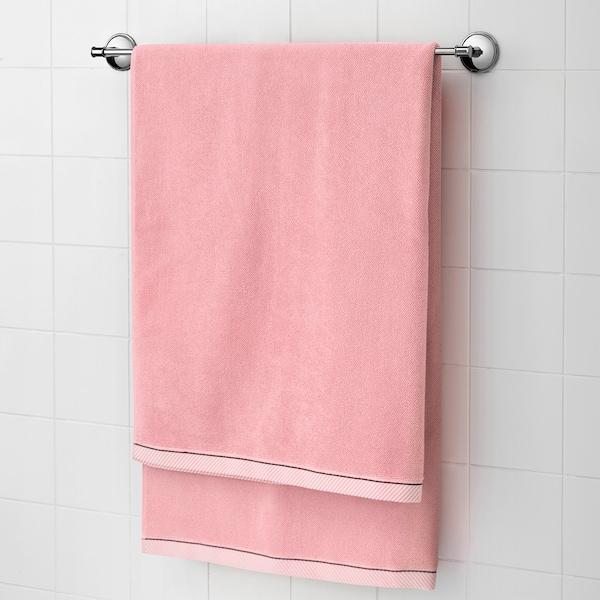 VIKFJÄRD Telo bagno, rosa, 100x150 cm