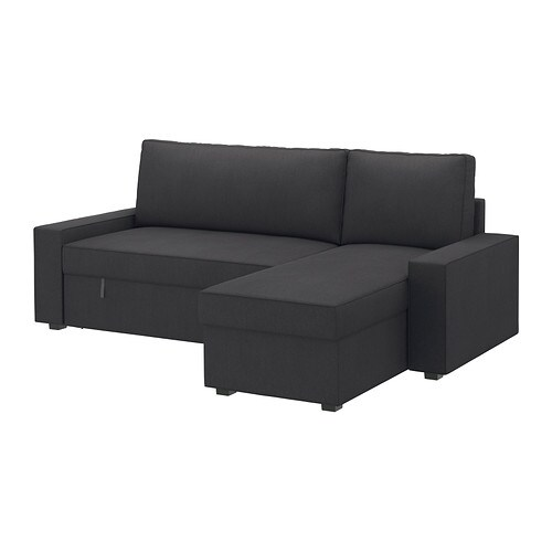 Vilasund marieby divano letto con chaise longue dansbo grigio scuro ikea - Divano vilasund ...