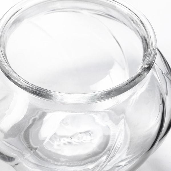 VILJESTARK Vaso, vetro trasparente, 8 cm