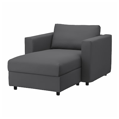 VIMLE Chaise-longue, Hallarp grigio