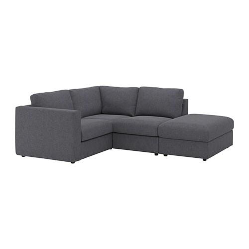 Vimle divano angolare a 3 posti con terminale aperto gunnared grigio fumo ikea - Ikea divano angolare ...