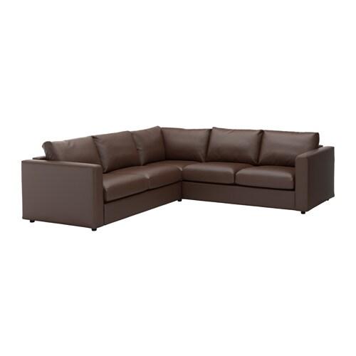 Vimle divano angolare a 4 posti farsta marrone scuro ikea - Ikea divano angolare ...