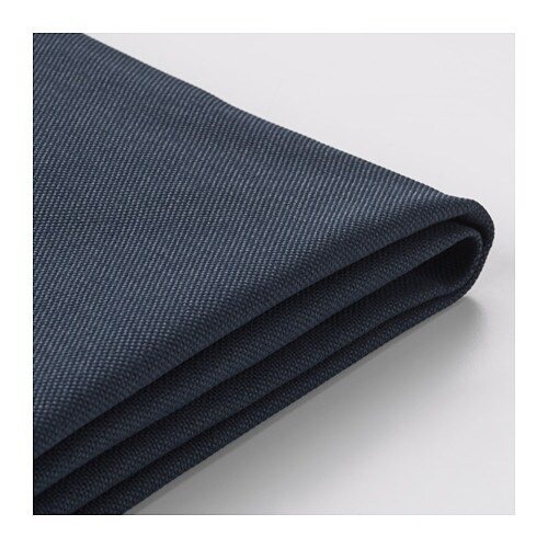Vimle fodera per divano a 4 posti con chaise longue orrsta blu nero ikea - Fodera divano con chaise longue ...