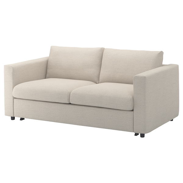 VIMLE Fodera per divano letto a 2 posti, Gunnared beige