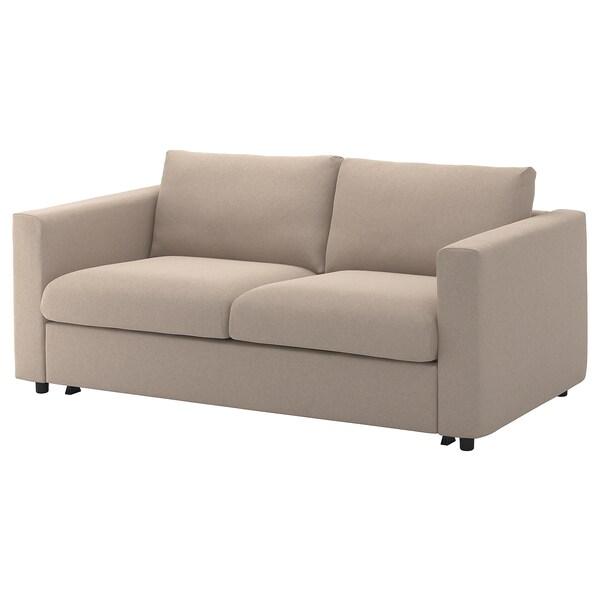 VIMLE Fodera per divano letto a 2 posti, Tallmyra beige