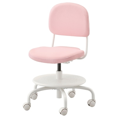 VIMUND Sedia da scrivania per bambini, rosa pallido