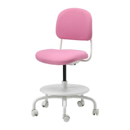 vimund sedia da scrivania per bambini rosa ikea