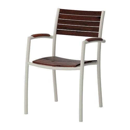 Vindals sedia con braccioli da giardino ikea for Sedia sdraio ikea