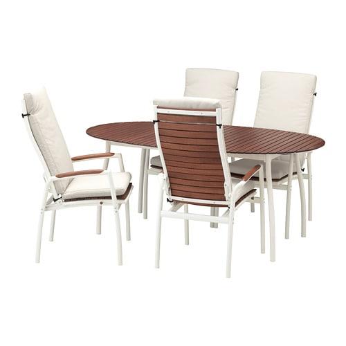 Vindals tavolo 4 sedie relax da giardino vindals - Sedie ikea giardino ...