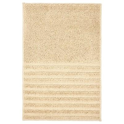 VINNFAR Tappeto per bagno, beige chiaro, 40x60 cm