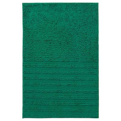 VINNFAR Tappeto per bagno, verde scuro, 40x60 cm