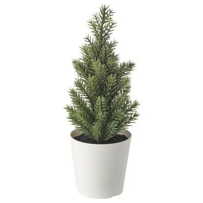 VINTER 2020 Pianta artificiale con vaso, da interno/esterno/albero di Natale verde, 6 cm