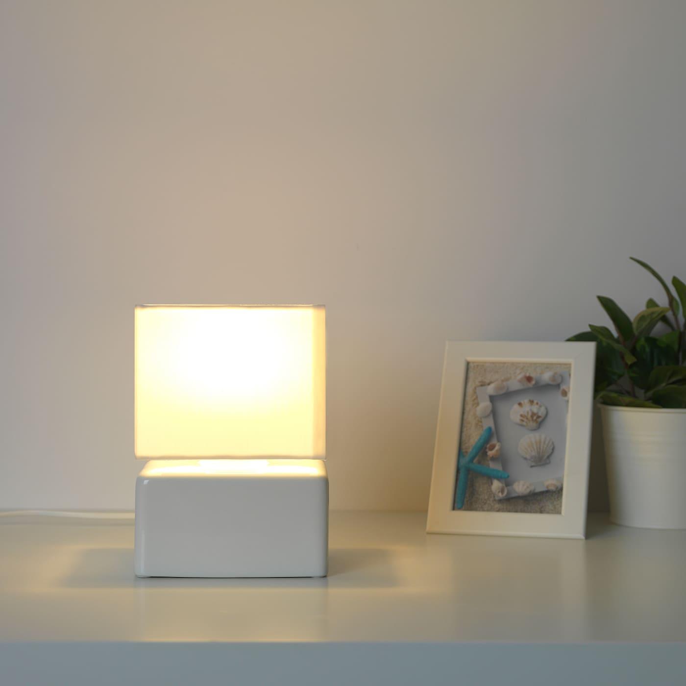 Visslebo Lampada Da Tavolo Ceramica Bianco Ikea It