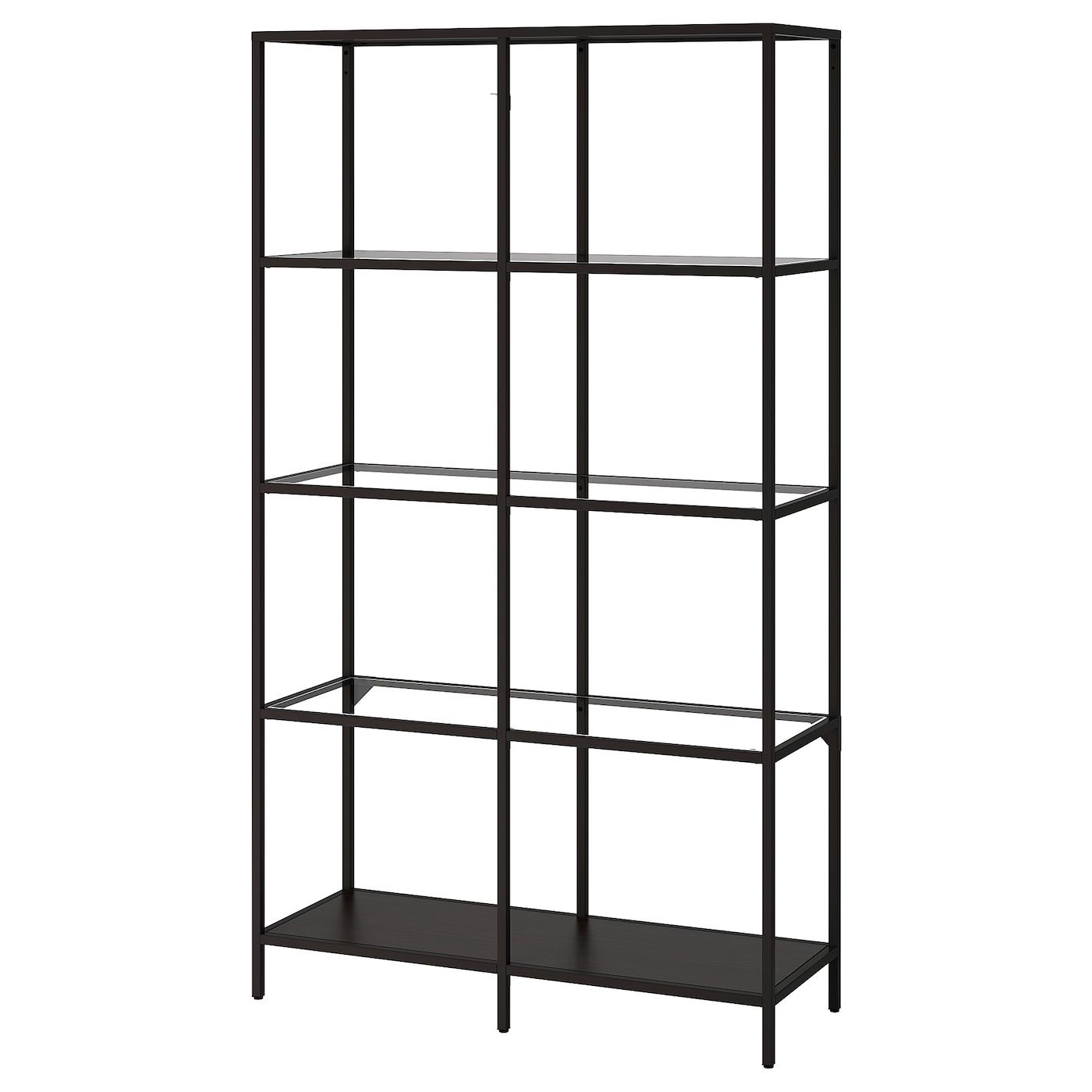 Libreria Profondità 15 Cm vittsjÖ scaffale - marrone-nero, vetro 100x175 cm