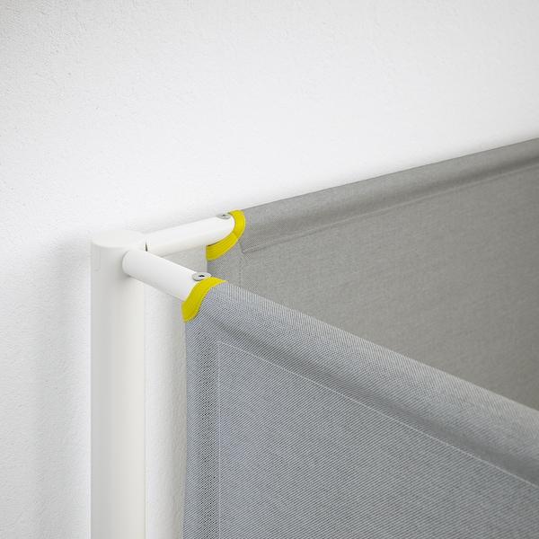VITVAL Struttura per letto a soppalco, bianco/grigio chiaro, 90x200 cm
