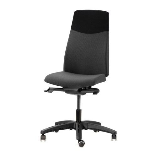 Volmar sedia da ufficio lehult grigio nero ikea - Ikea sedie per ufficio ...