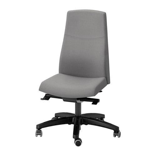 Volmar sedia da ufficio unnered grigio ikea for Sedia da ufficio ikea