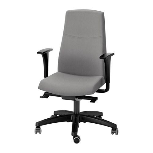 Volmar sedia girevole con braccioli grigio ikea - Sedia posturale ikea ...