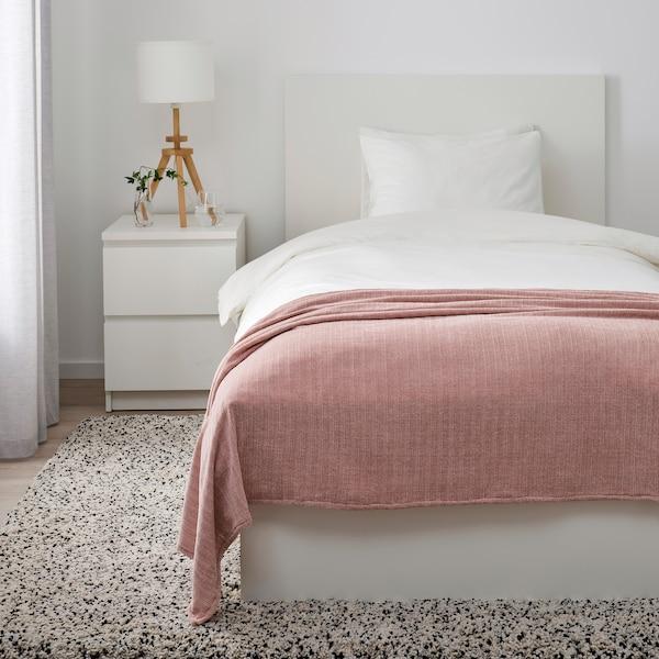 YLVALI Plaid, rosa pallido, 130x170 cm