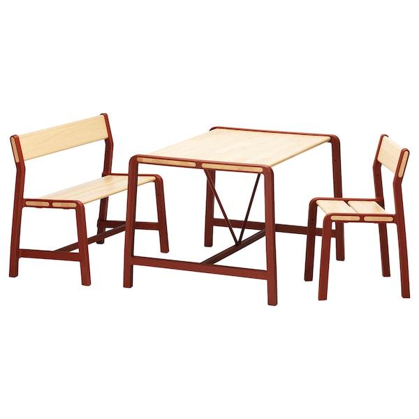 YPPERLIG Tavolo per bambini, panca e sedia