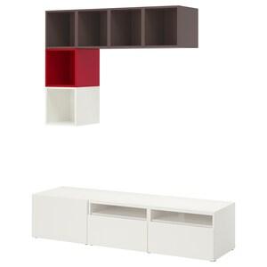 لون: أبيض/رمادي غامق/أحمر.