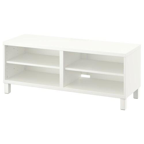 BESTÅ طاولة تلفزيون أبيض 120 سم 40 سم 48 سم 10 كلغ