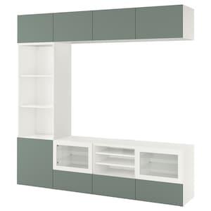 لون: أبيض/notviken زجاج شفاف رمادي أخضر.