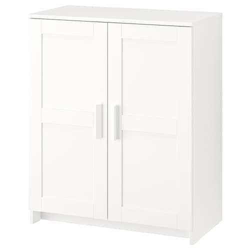BRIMNES خزانة مع أبواب أبيض 78 سم 41 سم 95 سم 25 كلغ