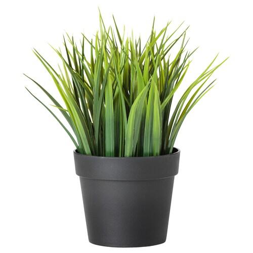 FEJKA نبات صناعي في آنية داخلي/خارجي عشب 21 سم 9 سم