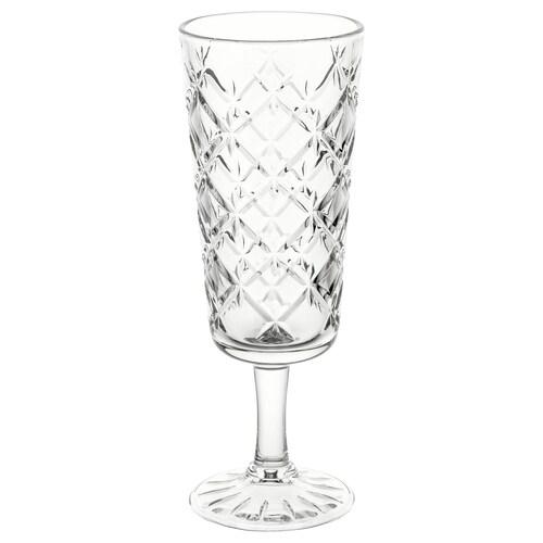 FLIMRA كأس زجاج شفاف/منقوش 17.4 سم 19 سل