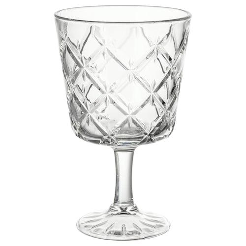 FLIMRA كأس زجاج شفاف/منقوش 13.7 سم 23 سل