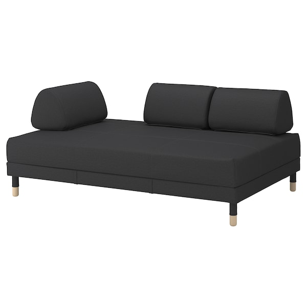 FLOTTEBO غطاء كنبة-سرير Vissle رمادي غامق 120 سم