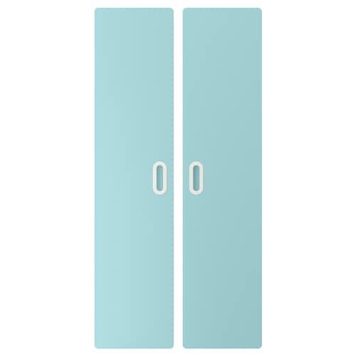 FRITIDS باب أزرق فاتح 60.0 سم 128 سم 2 قطعة